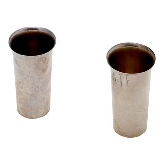 Sterling Silver Tumblers by Preisner - a Pair For Sale