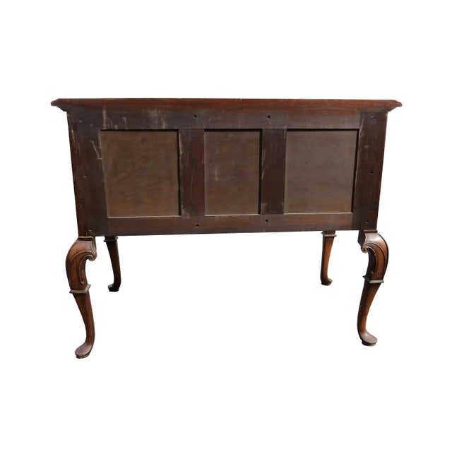 1920s Chippendale Tobey Furniture Company Walnut and Burl Lowboy For Sale - Image 9 of 13
