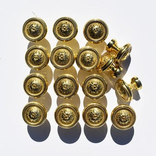 Sherle Wagner Round Gold Beaded Rococo Cabinet Drawer Knobs - Set of 16 Preview