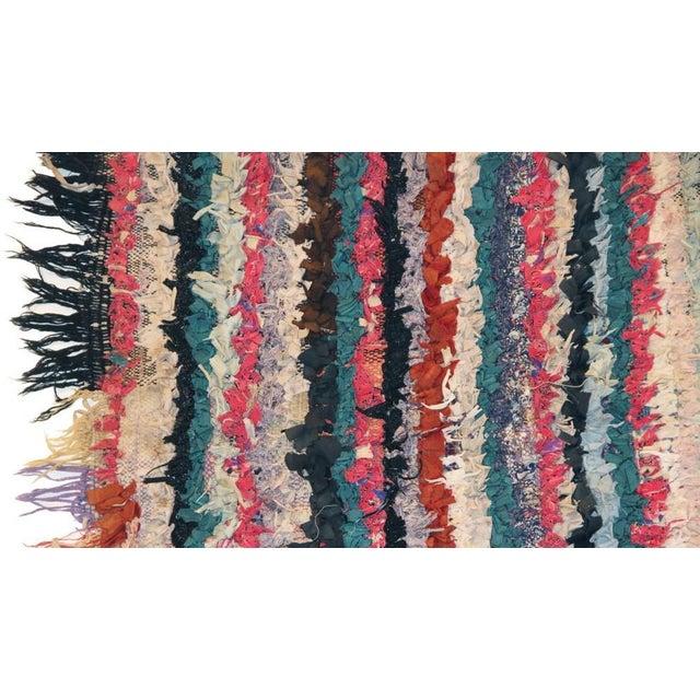 """Vintage Boucherouite Carpet - 6'6"""" X 3'2"""" - Image 2 of 3"""