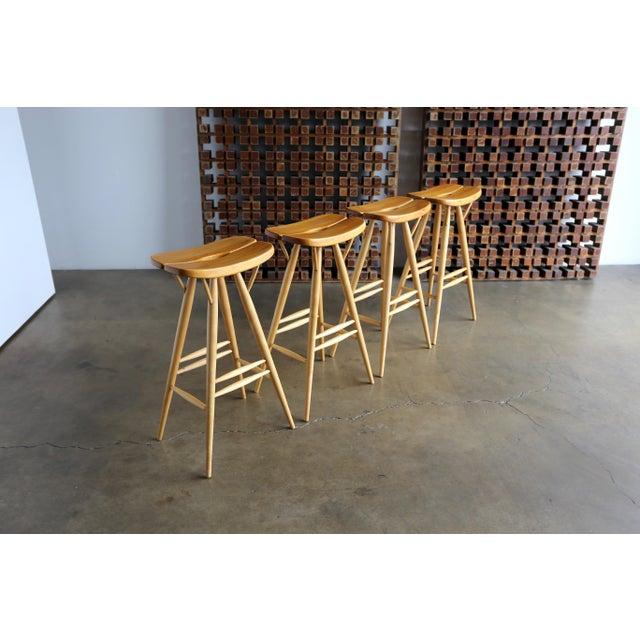Mid Century Ilmari Tapiovaara Stools - Set of 4 For Sale - Image 12 of 12
