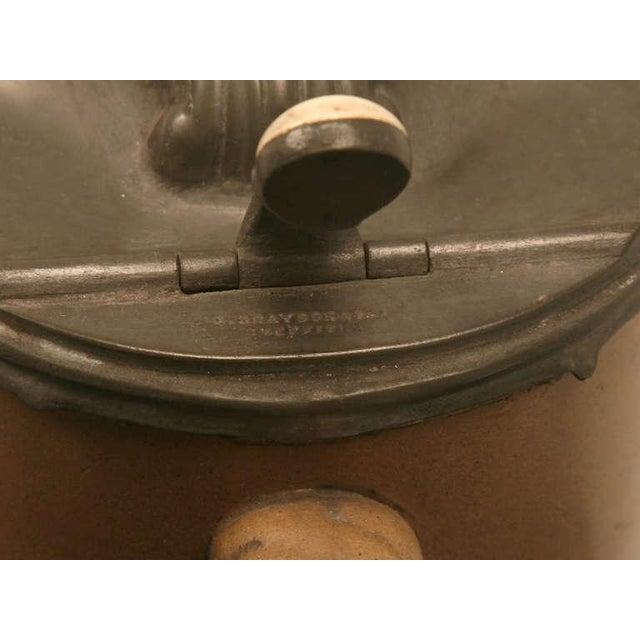 English 19th C. Antique English Polished Basalt Jug For Sale - Image 3 of 10