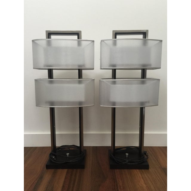 Modern Table Lamps - A Pair - Image 2 of 5