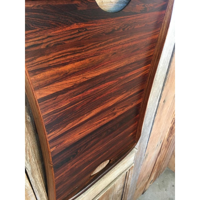 Brown Don Shoemaker Exotic Hardwood Serving Tray For Sale - Image 8 of 13
