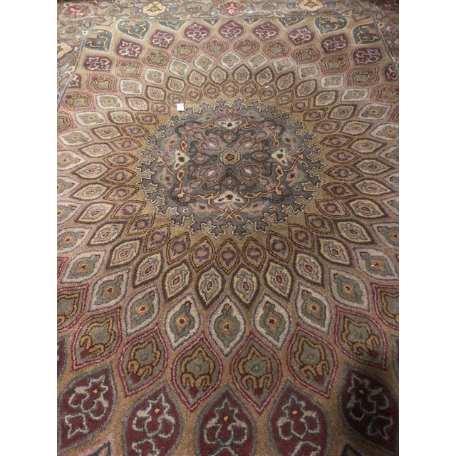 Brown Safavieh Heritage Wool Hand Tufted Light Brown Grey Rug - 7'6 X 9'6 For Sale - Image 8 of 8