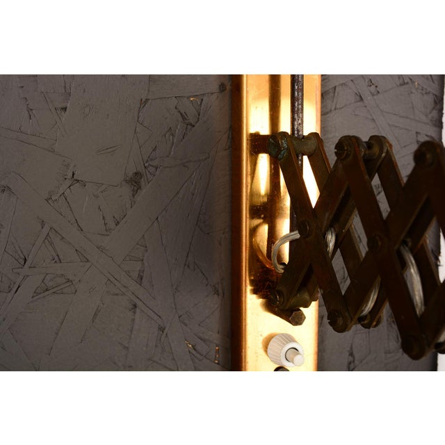 Gold Mid-Century Modern Italian Scissor Wall Sconce For Sale - Image 8 of 11