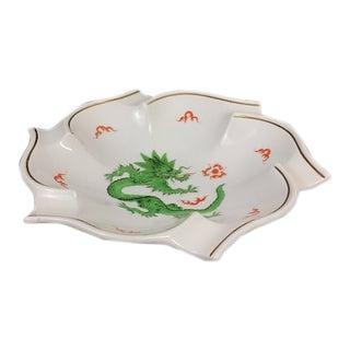 Meissen Porcelain Green Dragon Bowl For Sale