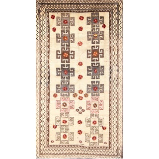 Vintage Mid-Century Persian Gabbeh Rug - 3′9″ × 7′ For Sale