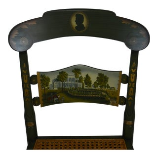 Hitchcock Andrew Jackson's Hermitage Limited Edition Hand Painted Pair Side Chairs (B) For Sale