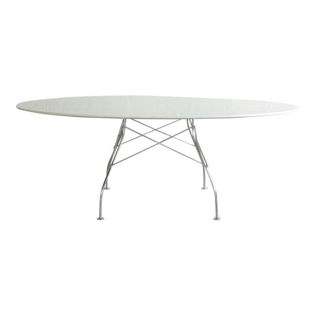 Antonio Citterio Oval Glossy Table for Kartell For Sale