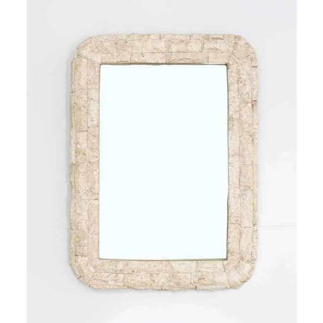Crushed Rock Tile Console Table with Mirror For Sale - Image 4 of 9