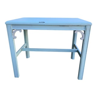 American Classical Ocean Blue Accent Table For Sale