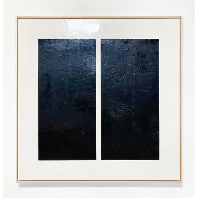 """Exclusive John O'Hara """"Midnight Window, 1"""" Encaustic Painting For Sale In Saint Louis - Image 6 of 7"""