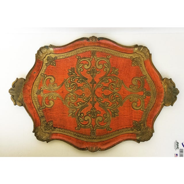 Vintage Italian Florentine Serving Tray - Image 5 of 8