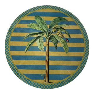 Italian Palm Tree Round Placemat For Sale