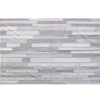 Stark Studio Rugs Contemporary Indian Flatweave Bamboo Rug - 5′10″ × 9′8″ For Sale