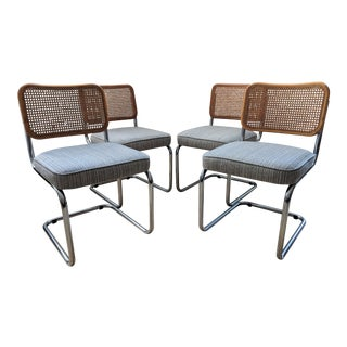 Vintage Marcel Breuer Style Cesca Chairs - Set of 4 For Sale