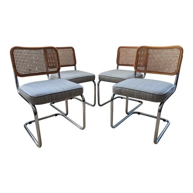 Vintage Marcel Breuer Style Cesca Chairs Set Of 4