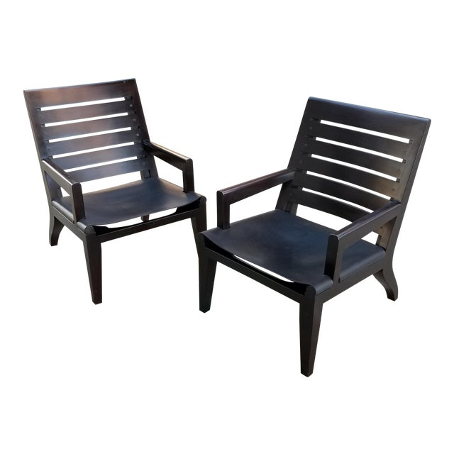 Lounge Chairs by Christian Liaigre for Holly Hunt - a Pair For Sale