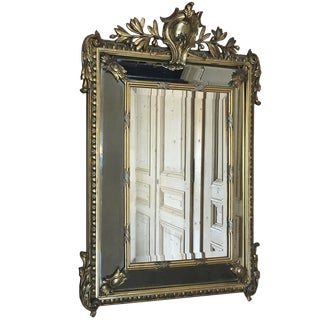 19th Century Neoclassical French Gilded Mirror For Sale