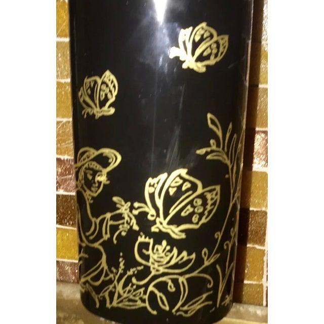 "Edna Hibel Rosenthal ""Festival Annual"" Golden Vase For Sale - Image 11 of 13"