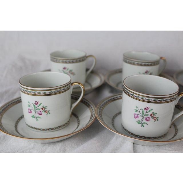 Asian Vista Algere Cups & Saucers - Set of 12 For Sale - Image 3 of 10