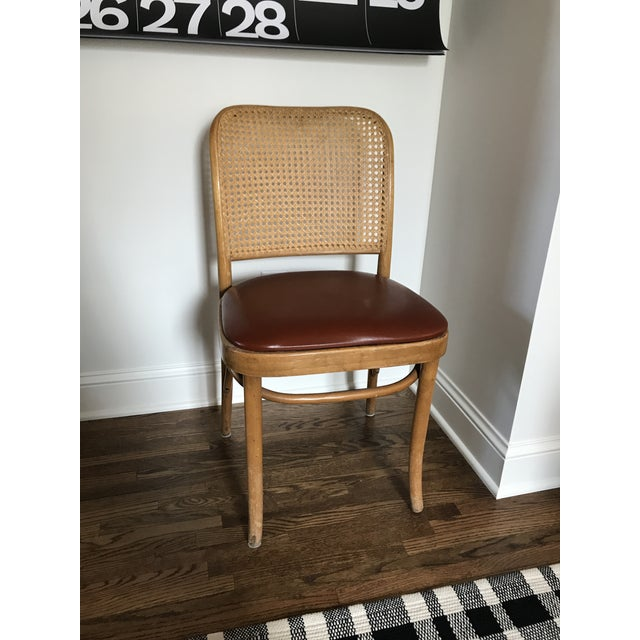 Caning Cane Back Chair in the Style of Josef Hoffman For Sale - Image 7 of 11