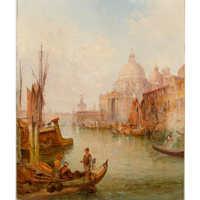 "19th Century ""Venice in July"" Cityscape Oil Painting by Alfred Pollentine For Sale - Image 4 of 12"