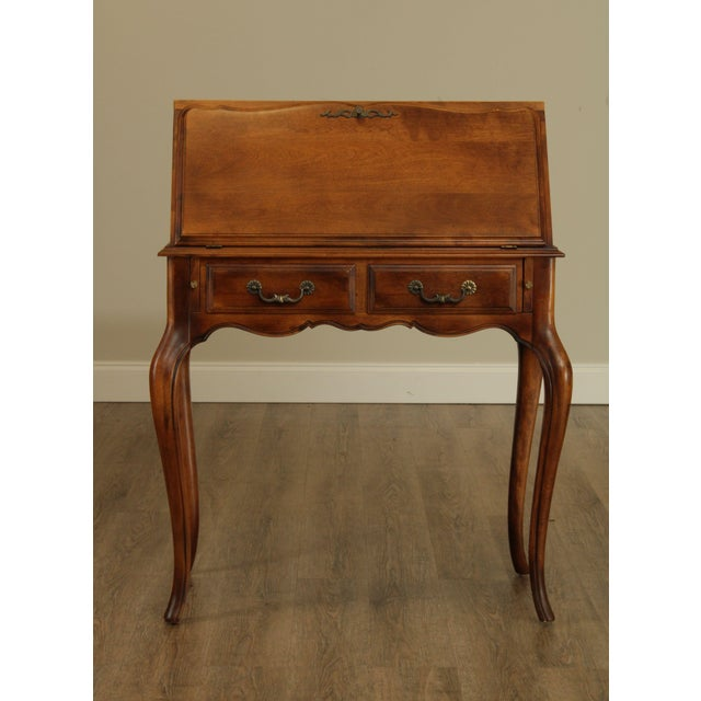 French Ethan Allen Country French Slant Front Writing Desk For Sale - Image 3 of 13
