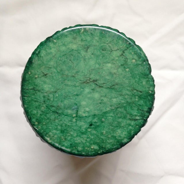 Green Italian Green Marble Box For Sale - Image 8 of 9