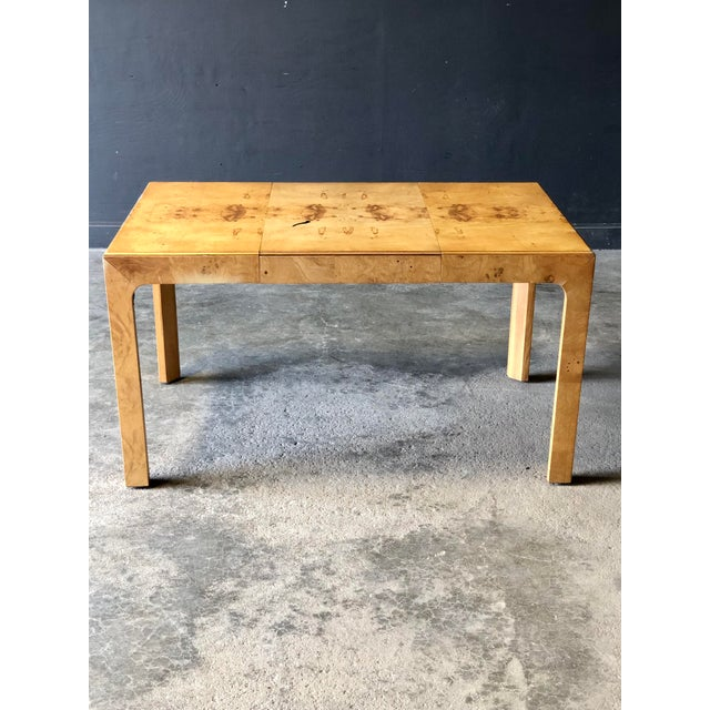 Wood Milo Baughman Parsons Dining Table For Sale - Image 7 of 9
