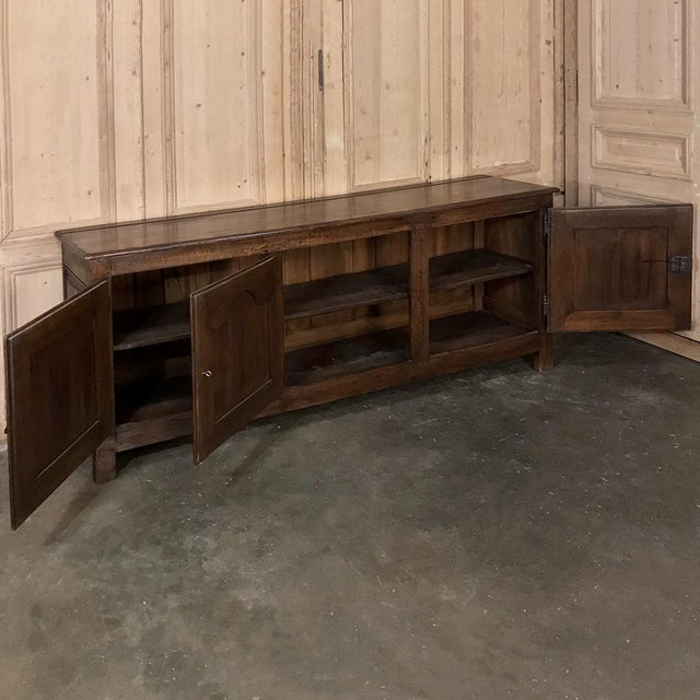 Late 18th Century 18th Century Country French Provincial Low Buffet For Sale - Image 5 of 13