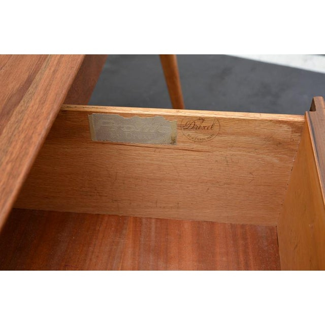 Mid-Century John Van Koert for Drexel Profile Walnut Floating Desk For Sale - Image 10 of 10