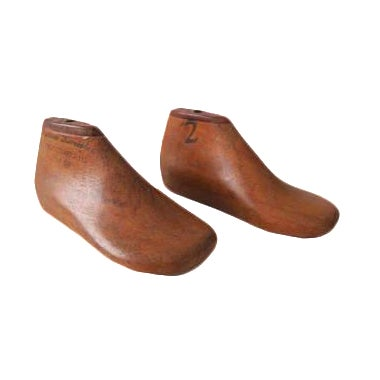 Antique Wood Children's Cobbler Shoe Mold Form - Set of 2 - Image 1 of 2