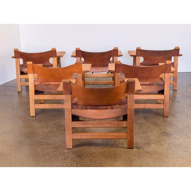 Pair of Borge Mogensen Spanish Chairs for Fredericia Stolefabrik For Sale - Image 9 of 13