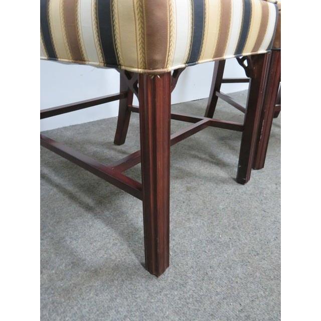 Late 20th Century Vintage Statesville Chair Co. Stripped Chippendale Style Side Chairs-a Pair For Sale In Philadelphia - Image 6 of 7