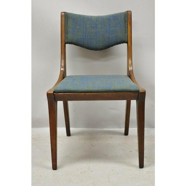 Drexel Dateline John Van Koert Walnut Mid Century Modern Dining Side Chair (A) For Sale - Image 11 of 12