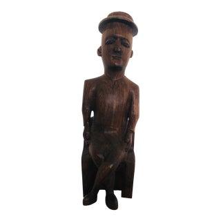 Sitting Figure Folk Art Sculpture