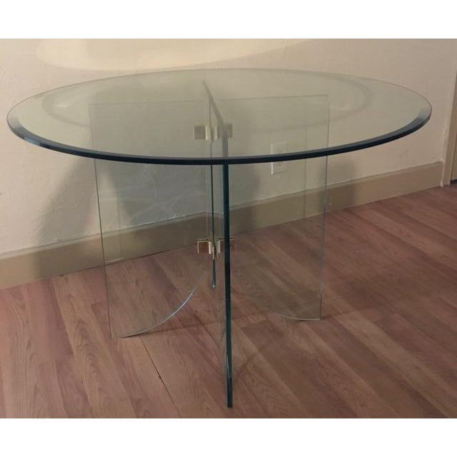 Pace Pedestal Glass Dining Table, Circa 1970 - Image 2 of 5