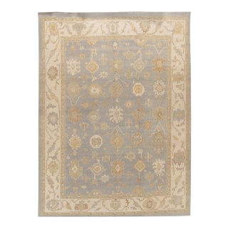 Classic Style Oushak Rug 9'4 X 13' For Sale