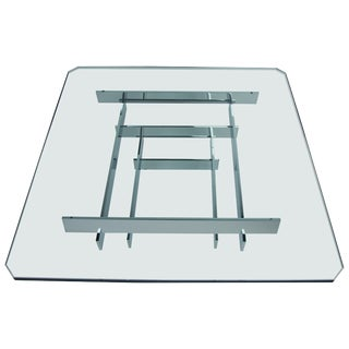 Mid-Century Modern Chrome Stacked Coffee Table by Paul Mayen for Habitat For Sale