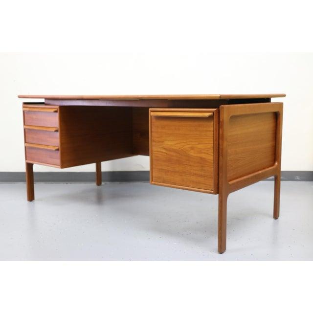 Danish Floating Teak Desk - Image 5 of 11