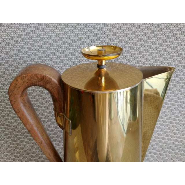 1950s Tommi Parzinger Brass Coffee Server Set For Sale - Image 5 of 11