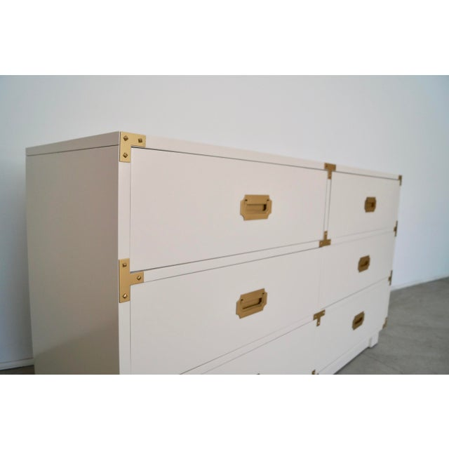 1960's Mid-Century Hollywood Regency Campaign Dresser For Sale - Image 10 of 13