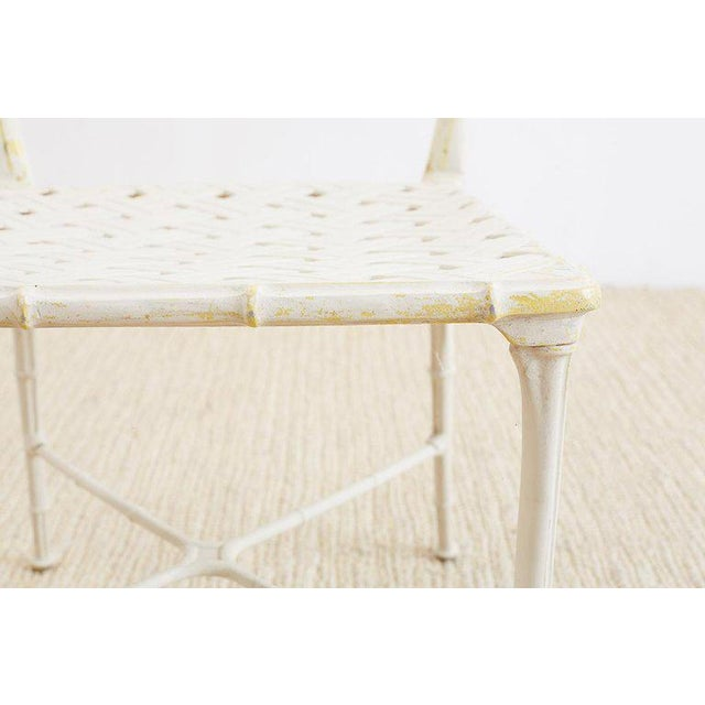White Brown Jordan Calcutta Faux Bamboo Garden Chairs For Sale - Image 8 of 13