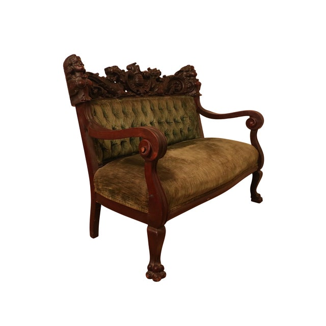 Americana Antique Late 19th. C Karpen Settee & Side Chairs - the Maiden Suite Set of 3 For Sale - Image 3 of 9