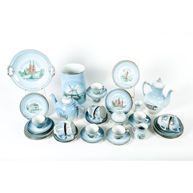Danish Porcelain Tea & Coffee Set - Set of 43 For Sale - Image 4 of 4