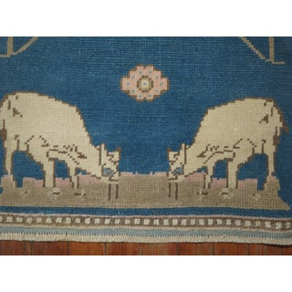 Blue Sheep Goat Pictorial Rug, 1'7'' X 1'11'' Preview