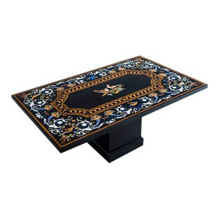 """Florentine Style """"Pietra Dura"""" Vintage Indian Plaque/Coffee Table, circa 2000 For Sale"""