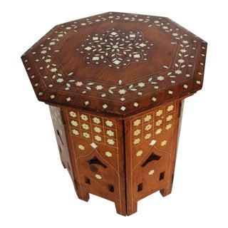 20th Century Anglo-Indian Bone Inlaid Octagonal Tea Table For Sale